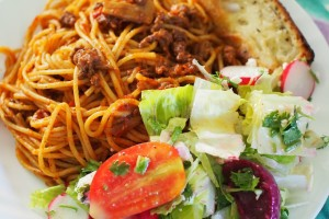 Recipe for Spaghetti Bolognese by Beth Pocock